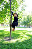 Acrobatic outdoor training Royalty Free Stock Photo