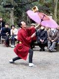 Acrobatic performer. Performance at Rikugien Garden, Tokyo, Japan Stock Images