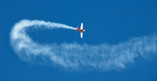 Acrobatic plane Royalty Free Stock Images
