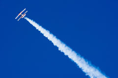 Acrobatic Plane in Flight Royalty Free Stock Photo