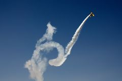 Acrobatic plane in flight Stock Image
