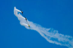 Acrobatic planes Royalty Free Stock Images