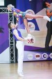 Acrobatic Rock N Roll, Zagreb. ZAGREB,CROATIA - JUNE 4,2016 : Semi finals of World Masters Rock n Roll Main Class in Zagreb, Croatia. Performance of dancing Stock Images