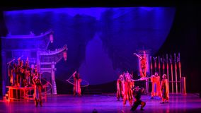 Acrobatic show Baixi Dream Night stock footage