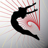 Acrobatic silhouette. Acrobatic silhouette on white background Royalty Free Stock Photos