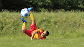 Acrobatic soccer player Stock Image