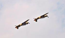 Acrobatic YAK-52 planes at BIAS 2015 Stock Images