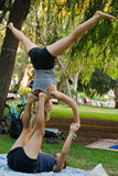 Acrobatic yoga Stock Photography