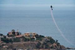 Acrobatics ελικοπτέρων στοκ εικόνες με δικαίωμα ελεύθερης χρήσης