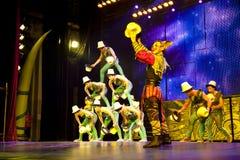 acrobatics κινέζικα Στοκ Εικόνες