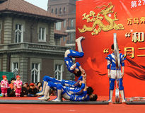Acrobatics της Κίνας Στοκ φωτογραφία με δικαίωμα ελεύθερης χρήσης