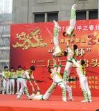 Acrobatics της Κίνας Στοκ Φωτογραφία