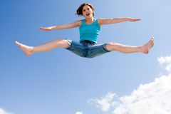 Acrobatics in the air Royalty Free Stock Photography