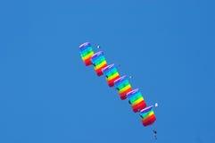 Acrobatics do ar Foto de Stock Royalty Free