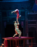 Acrobatics on the table-Acrobatic showBaixi Dream Night Royalty Free Stock Images