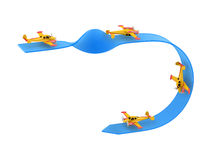 Acrobaties aériennes d'avion image libre de droits