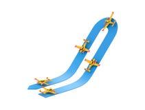 Acrobaties aériennes d'avion illustration stock
