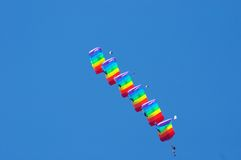Acrobaties d'air photo libre de droits