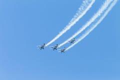 Acrobaties Durban d'avions Images libres de droits