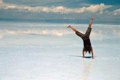 Acrobaties sur la glace Photographie stock libre de droits