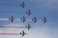 acrobatique de法国patrouille 免版税图库摄影
