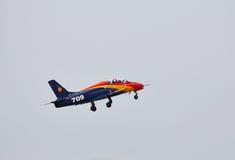 Acrobatisch iar-99 Soim vliegtuig bij BIAS 2015 Royalty-vrije Stock Foto's