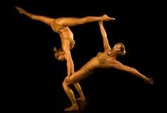Acrobatisch meisje twee royalty-vrije stock afbeeldingen