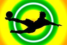 Acrobatisch Voetbal Stock Foto's