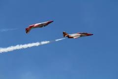 Acrobatische tentoonstelling Stock Fotografie