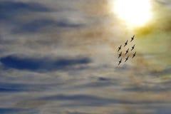Acrobatische vliegtuigen Stock Foto's
