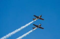 Acrobatische Vliegtuigen Royalty-vrije Stock Afbeelding