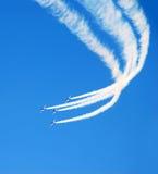 Acrobatische vlucht stock fotografie