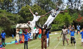 Acrobats Children's  entertainment and fun Kenya Royalty Free Stock Image