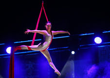 ACROBATS FROM CHINA NATIONAL CIRCUS Royalty Free Stock Photography