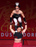 Acrobats of the Chinese State Circus. Royalty Free Stock Photo
