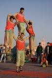 Acrobats at Djema Stock Photography