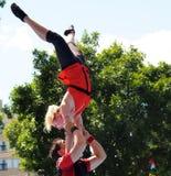 Acrobats At Edmonton Fringe Festival Royalty Free Stock Images