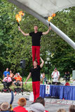 Acrobats at Iowa State Fair Stock Photos