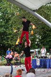 Acrobats at Iowa State Fair Royalty Free Stock Photos