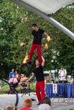 Acrobats at Iowa State Fair Royalty Free Stock Photos