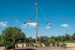Acrobats (Los Voladores) in Teotihuacán. Los Voladores in Teotihuacán, Mexico Stock Image