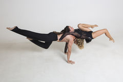 Acrobats perform Royalty Free Stock Images
