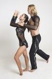 Acrobats perform Stock Images