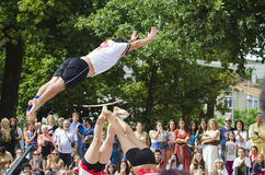 Acrobats Stock Photography