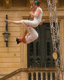 Acrobats on stage in Luxembourg City Royalty Free Stock Image