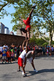 Acrobats in the street of New York Stock Photos