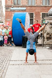 Acrobats street Stock Images