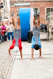 Acrobats street Royalty Free Stock Photo