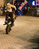 Acrobazia della motocicletta di stile libero Fotografia Stock Libera da Diritti