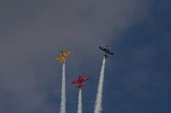 Acrobazie aeree del gruppo Fotografie Stock